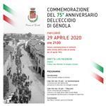 75° anniversario Eccidio di Genola